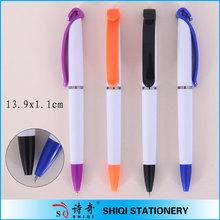 snow white plastic ball pen for promotional