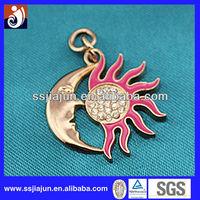 bueatiful sun and moon metal Key ring decoration