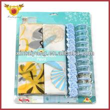 Printed Flower Design Charm European Style Shower Curtains