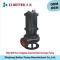 7.5hp mobile anti - blocage submersible pompe à eaux usées pompe centrifuge égouts