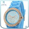 2014 Top Sale Custom Price Silicone Watches Wholesale geneva watch