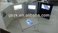 company brochure/catalouge china supplier video cards7inch video player with touch screen camera