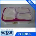 2015 buen mercado de silicona plegable caja de almuerzo de la fábrica de china