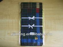 2014 most popular fashion grid handkerchief for man