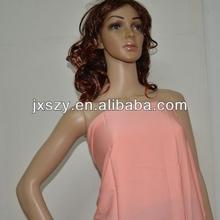 plain dye silk crepe fabric/silk crepe de chine