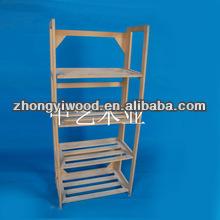 2014 hot sale! wooden folding shelf for market