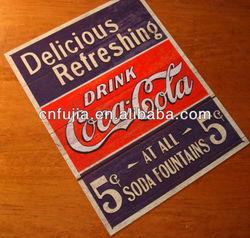 Vintage Embossed custom design metal sign