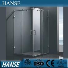 HS-SR845 indoor square 8mm tempered glass walk in shower enclosure