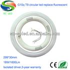 g10q base 18w t8 led circular tube light