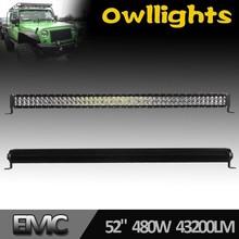 50inch led light bar atv utv 480w offroad led light bar 12v 4x4 camo led light bar 50''