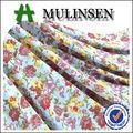 Mulinsen textil-stricken polyester fdy 4-wege-stretch-stoff retro blumenmädchen kleid muster 2012