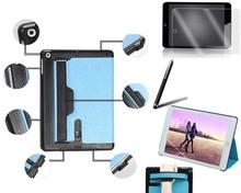 Premium Multi-function Hand Strap Leather Stand Hard Case Cover + Fim & Stylus For Apple iPad Mini Retina 2