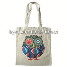 OEM printed customized canvas luxury shopping bag
