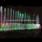 colorful stainless steel music fountain