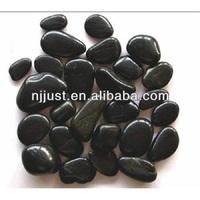 Natural black garden pebble stones