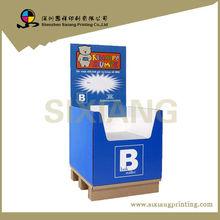 Custom advertising promotion cardboard Beans Display Shelf,Modem Cardboard Display Rack,ODM&OEM Free Standing Display Rack
