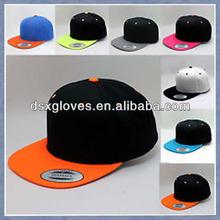 Wholesale Custom Embroidered or Printed blank flat brim kids snapback caps