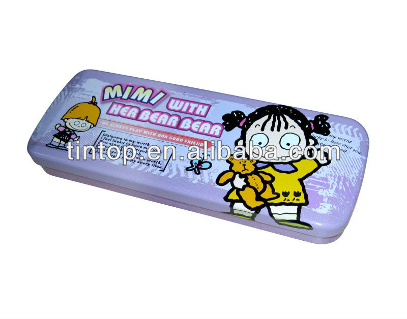 tin pencil case/metal pencil box