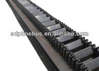 Waveform guard conveyor belt