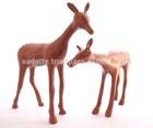 Christmas decoration deer aluminium bronze finish gift item figurine