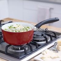 Forged Aluminium White Ceramic Coating Milk Sauce Pan