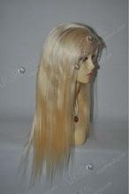 European hair bleach blonde lace wigs for white people