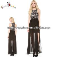 2014 Stylish Hot selling Elegant Black Exotic Prom Dress
