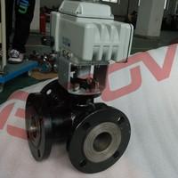 Carbon steel flanged electric water diverter valve