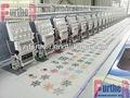 9 agulhas 24 cabeça de máquina de bordar de alta velocidade da máquina do bordado do sequin máquina de bordar