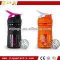 De alta calidad deportiva proteínas agitador/gimnasio de plástico de agua de la botella de la licuadora/botella de bebida energética