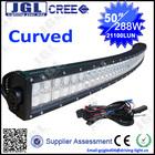 2014 New Product! 120w 20'' led Curved light bar, Cree led curved light bar, curved bar 288w led work light 50'' 40'' 30'' bar