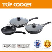 5pcs aluminum induction marble cookware