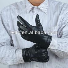 Black Safety Leather Gloves