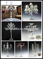 Colorido candelabros castiçal de vidro, Suporte de vela de cristal