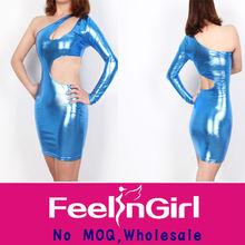 wholesale hot popular elegrant bandage dress navy blue