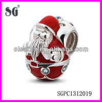 2014 Christmas series authentic 925 silver charm 925 silver santa clause charms with customzied logo & desgin