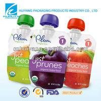 New!!Spout top fresh juice packging plastic bags manufacturer