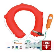 Belt-type inflatable life buoy