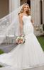 Hot Sale Elegent Strapless Crestal Trumpet Wedding Dress
