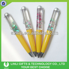China Supllier Light Liquid Pen With Customized Floater