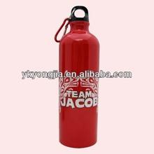 Aluminum bottle with carabiner/water bottle/sports bottle(BPA Free 100%)