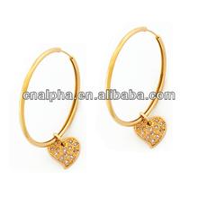 Round Huggie Men Black Earrings Fashion Ear clip Jewelry HE-098