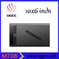 usb powered desenho digital captura gráficos comprimido com caneta stylus ugee m708