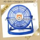 hot selling blue round ad gift usb mini fan guangzhou distributor