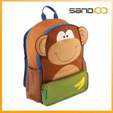 2014 monkey animal Kid's school backpack, backpack child bag