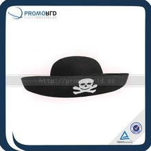 Retro Black Skull Viking Captain Pirate Hat
