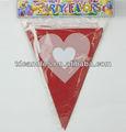 crianças dos desenhos animados do partido de aniversário triângulo bandeira e bandeira