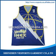 new wholesale sublimated basketball jerseys design