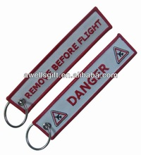 Danger Rocks fabric keychain embroidery