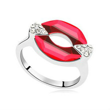 Personality Fashion Jewelry Austria Crystal Plated Rose Gold Rings